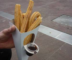 food, churros, and delicious image