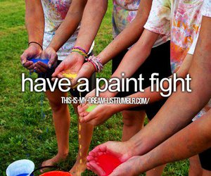 paint, friends, and paint fight image