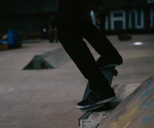 graffiti, skate, and skateboard image