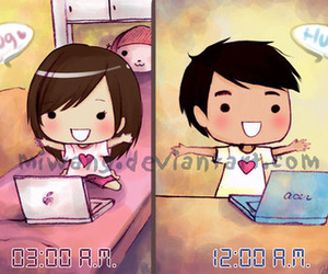 distance, cute, and love image