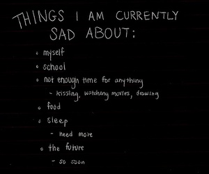 sad, quotes, and school image
