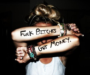 girl, money, and hate image