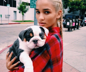 dog, girl, and pia mia image