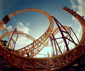 Roller Coaster, photography, and fun image