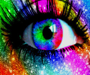 art, color, and eyes image