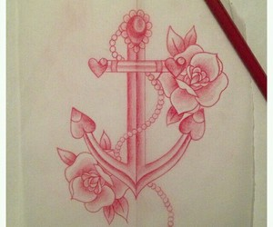 anchor, floral, and jewels image