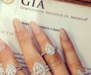 rings, luxury, and nails image