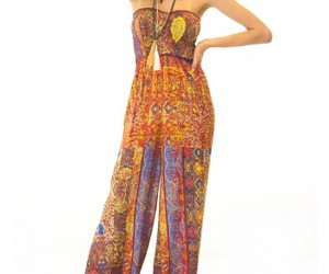 jumpsuit, print, and tribal image