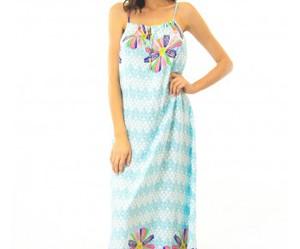 blue, maxi dress, and chevron image