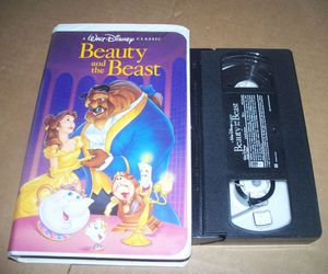 beauty and the beast, disney, and tape image