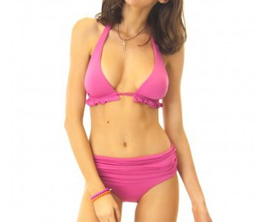 frill, halter, and pink image