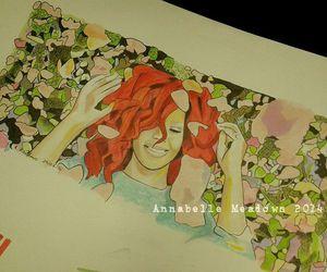 art, drawing, and redanna image