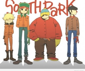 South park and gorrilaz image