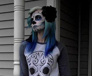 blue hair, scene, and site model image