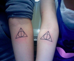 harry potter, deathly hallows, and girl image