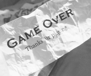 hope, hopeless, and game over image