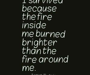 fire, quotes, and joshua graham image