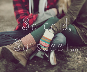 cold, couple, and friend image
