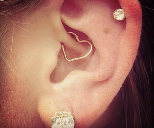 girl, piercing, and cool image