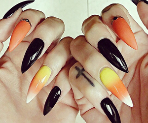 black, Halloween, and nails image