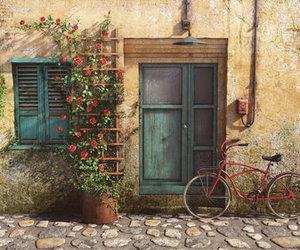beautiful, bike, and door image