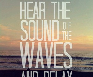 relax, waves, and beach image