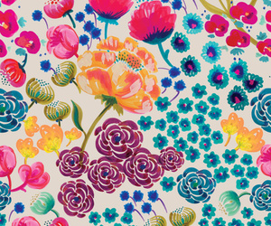 colors, flowers, and pattern image