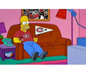 habs, homer, and simpsons image