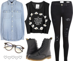 outfit, pants, and specs image
