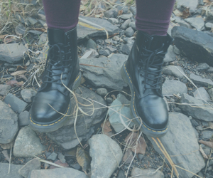 black, boots, and docs image