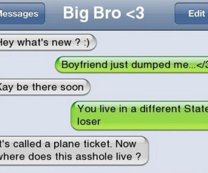 brother, boyfriend, and text image
