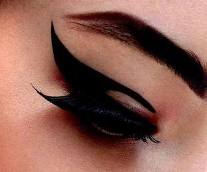 make up, black, and makeup image