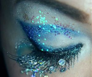 blue, makeup, and eyes image