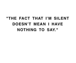 quotes, silent, and true image
