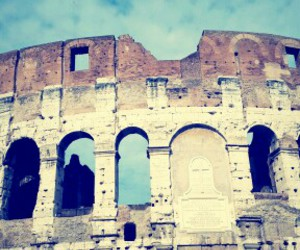 city, colosseum, and outdoor image