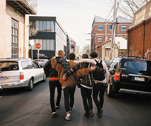 friends, boy, and street image