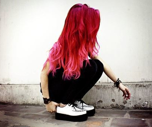 Girl Hair And Creepers Image