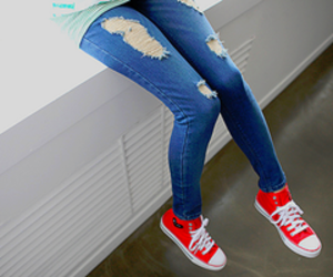 blue, fashion, and high tops image