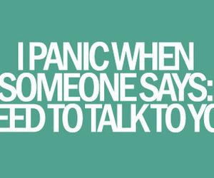 panic, text, and talk image