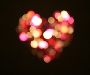 heart, light, and pink image