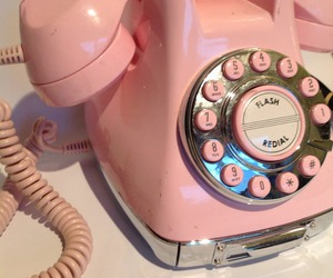pink, telephone, and vintage image