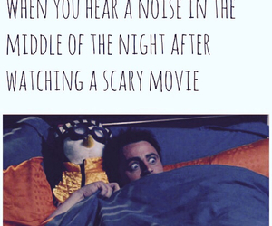 funny, movie, and scary image