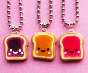 pink, food, and necklace image