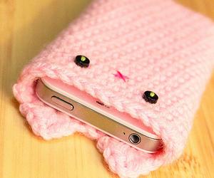 pink, iphone, and kawaii image