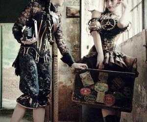 steampunk, girls, and gothic image