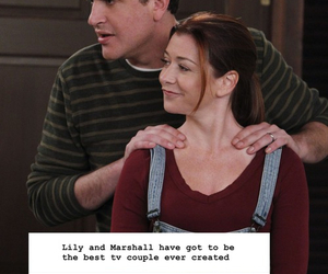 himym, lily, and marshall image