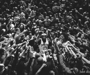 Basketball, black and white, and Just Do It image