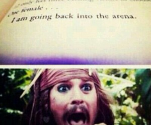 catching fire, hunger games, and jack sparrow image