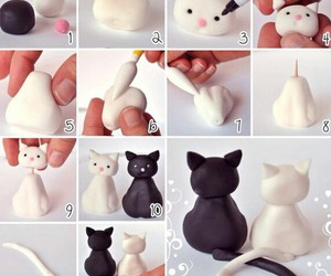 black, cats, and clay image