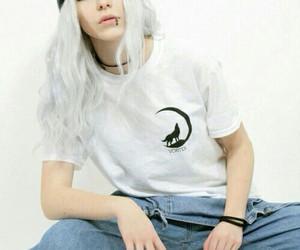girl, beautiful, and white image